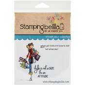 Uptown Girl Charlotte Loves To Shop - Stamping Bella Cling Rubber Stamp