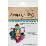 Uptown Girl Rebecca Loves To Read Cling Rubber Stamp - Stamping Bella