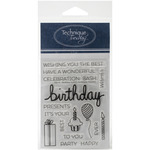 Say It -Birthday - Technique Tuesday Clear Stamps