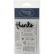 Say It: Thanks - Technique Tuesday Clear Stamps