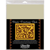 "Natural 9""X12"" 25/Pkg - Block Printing Paper Pack By Black Ink Papers"