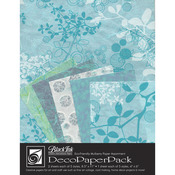 Chinaberry Aqua - Deco Paper Pack By Black Ink Papers