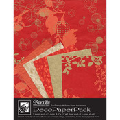 Chinaberry Red - Deco Paper Pack By Black Ink Papers