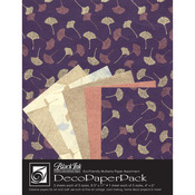 Metallic Ginkgos - Deco Paper Pack By Black Ink Papers