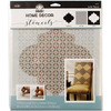 Trellis - FolkArt Home Decor Masking Stencils 3/pk 9.5 x8.5  Plaid:Craft-FolkArt Home Decor Masking Stencils. Easy decorator touches on any surface including gifts, accessories, furniture and walls! Use with FolkArt Home Decor Chalk paint to quickly add patterns or designs to walls or large furniture pieces. Wash with soap and warm water after use. This package contains one 3-piece layering stencil measuring 9-1/2x8-1/2 inches. Comes in a variety of designs. Each sold separately. Imported.