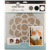 Flower - FolkArt Home Decor Masking Stencils 3/pk 9.5 x8.5  Plaid:Craft-FolkArt Home Decor Masking Stencils. Easy decorator touches on any surface including gifts, accessories, furniture and walls! Use with FolkArt Home Decor Chalk paint to quickly add patterns or designs to walls or large furniture pieces. Wash with soap and warm water after use. This package contains one 3-piece layering stencil measuring 9-1/2x8-1/2 inches. Comes in a variety of designs. Each sold separately. Imported.