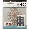 Medallion - FolkArt Home Decor Masking Stencils 3/pk 9.5 x8.5  Plaid:Craft-FolkArt Home Decor Masking Stencils. Easy decorator touches on any surface including gifts, accessories, furniture and walls! Use with FolkArt Home Decor Chalk paint to quickly add patterns or designs to walls or large furniture pieces. Wash with soap and warm water after use. This package contains one 3-piece layering stencil measuring 9-1/2x8-1/2 inches. Comes in a variety of designs. Each sold separately. Imported.