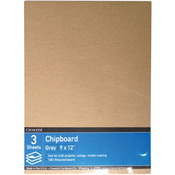 """9""""X12"""" - Crescent Recycled Chipboard Value Pack 3/Pkg"""