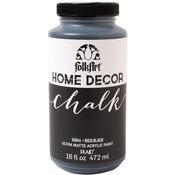 Rich Black - Folkart Home Decor Chalk Paint 16oz