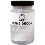 Silver - FolkArt Home Decor Chalk Paint Metallic 8oz