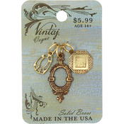 Deco Charms - Vintaj Metal Accents 3/Pkg