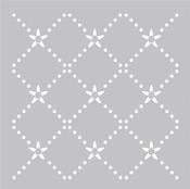 """Plastic Stencil 8""""X8""""-Diamond Dot"""