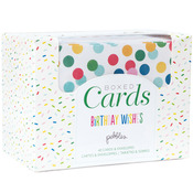 "Birthday Wishes - Pebbles A2 Cards & Envelopes (4.25""X5.5"") 40/Pkg"