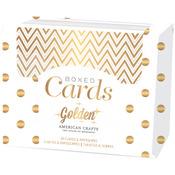 Golden-Gold Foil - American Crafts A2 Cards & Envelopes