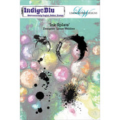 Ink Splats - Indigoblu Cling Mounted Stamp