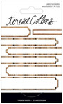 Woodgrain Foil Label Stickers - Signature Essentials - Teresa Collins