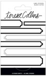 Black Foil Label Stickers - Signature Essentials - Teresa Collins