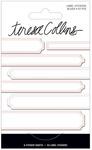 Blush Foil Label Stickers - Signature Essentials - Teresa Collins