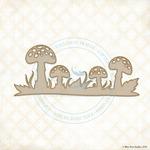 Mushroom Scape Laser Cut Chipboard - Blue Fern Studios