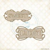 Sweet & Lucky Laser Cut Chipboard - Blue Fern Studios