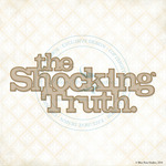 The Shocking Truth Laser Cut Chipboard - Blue Fern Studios