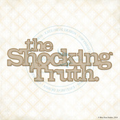The Shocking Truth Laser Cut Chipboard - Blue Fern Studios