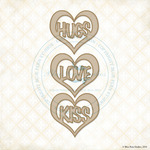 Heart Hugs Laser Cut Chipboard - Blue Fern Studios