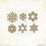 Winter Flakes Laser Cut Chipboard - Blue Fern Studios