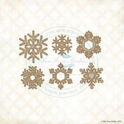 Winter Flakes Laser Cut Chipboard - Blue Fern Studios