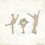 Figure Skaters Laser Cut Chipboard - Blue Fern Studios