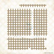 Grid Pieces Laser Cut Chipboard Designs - Blue Fern Studios