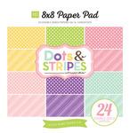 Spring Dots & Stripes 8 x 8 Paper Pad - Echo Park