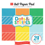 Summer Dots & Stripes 8 x 8 Paper Pad - Echo Park