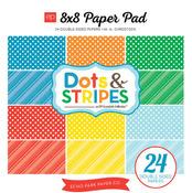 Summer Dots & Stripes 8 x 8 Paper Pad - Echo Park