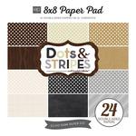 Neutrals Dots & Stripes 8 x 8 Paper Pad - Echo Park