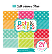 Brights Dots & Stripes 8 x 8 Paper Pad - Echo Park