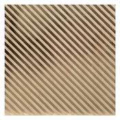 Stripe Kraft With Foil Cardstock - Bazzill
