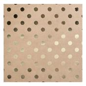 Dots Kraft With Foil Cardstock - Bazzill