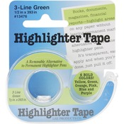 Green Highlighter Tape