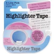 Pink Highlighter Tape