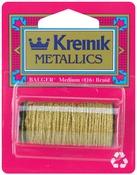 Gold - Kreinik Medium Metallic Corded Braid #16 11yd