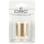 Light Gold - DMC Metallic Embroidery Thread 43.7yd