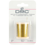 Gold - DMC Metallic Embroidery Thread 43.7yd