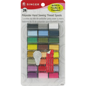 Assorted Colors - Polyester Thread 10yd 24/Pkg