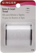 White - Button & Carpet Thread 50yd