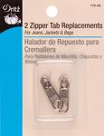 Nickel - Zipper Tab Replacements 2/Pkg