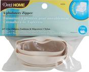 """Cream - Nylon Upholstery Zipper 24"""""""
