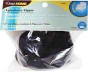 """Black - Nylon Upholstery Zipper 72"""""""
