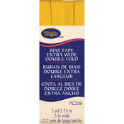 "Yellow - Double Fold Bias Tape 1/2""X3yd"