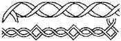 "2"" Borders 6""X18"" - Quilt Stencils"